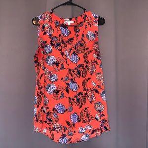 DR2 red floral blouse- medium